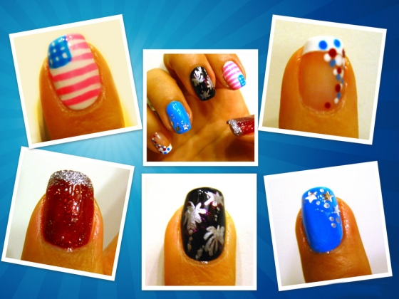 4th of July Nail Collage copy