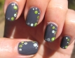 Jody Gray and Lime Dot Nails