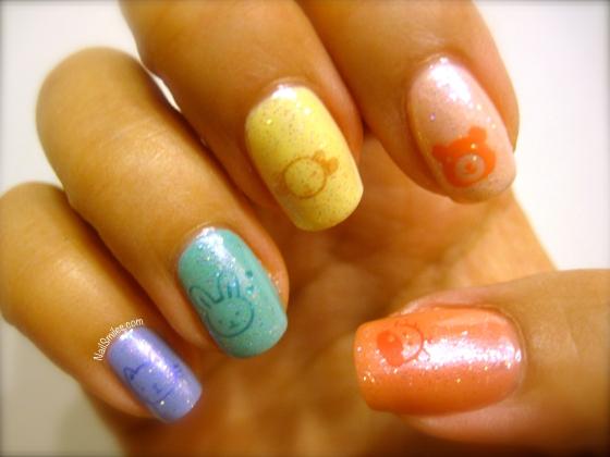 Kawaii Stamp Glitter Rainbow Better Kitty Pinky