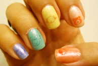Kawaii Stamp Rainbow Glitter