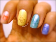 Left Kawaii Stamp Rainbow Glitter
