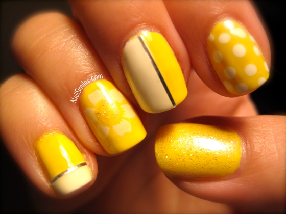 Striping Tape on Yellow and White