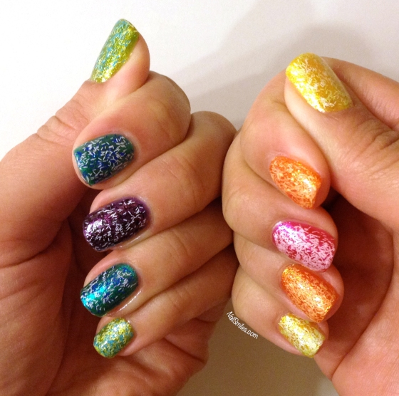 Fuzzy Rainbow Nails 2