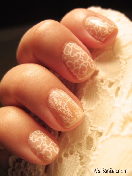 Nude Lace Nails - Delicate and Feminine
